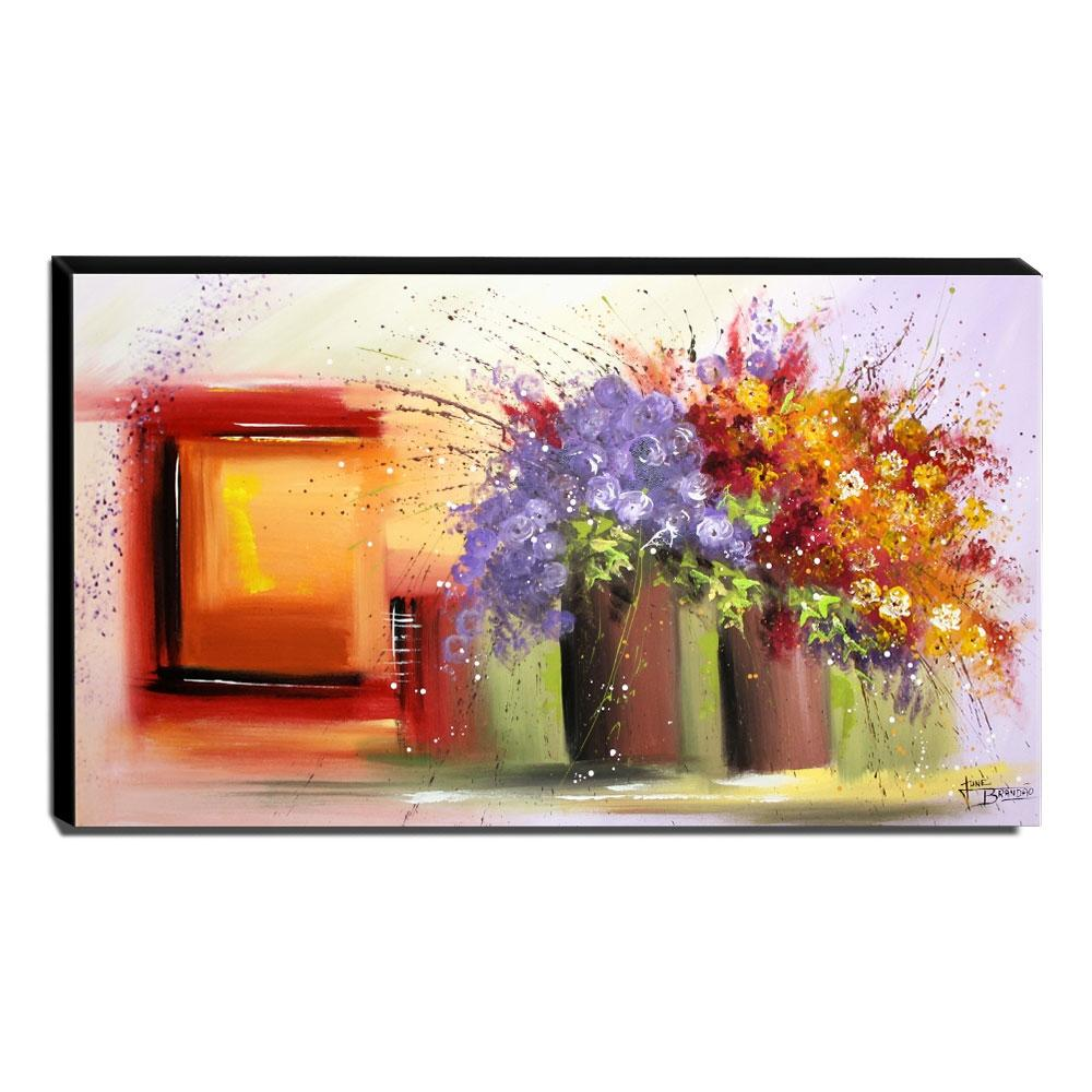 Quadro Decorativo Canvas Floral 60x105cm-QF7