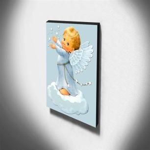 Quadro Infantil Vintage Anjinho Canvas 40x30cm-INF475