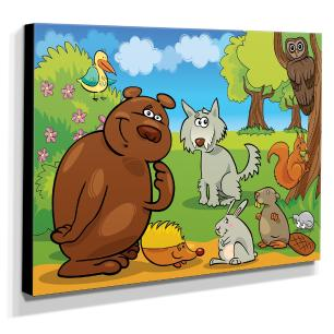 Quadro Infantil Animais Canvas 30x40cm-INF169
