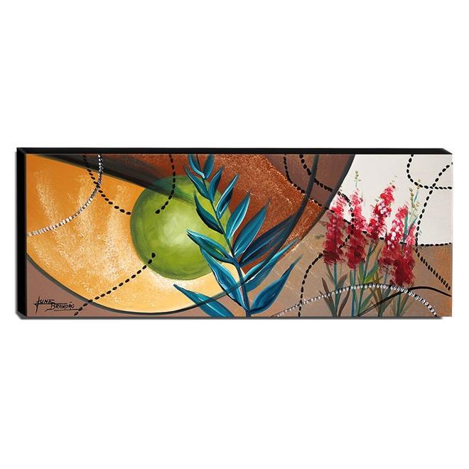 Quadro de Pintura Abstrato 40x105cm-1598