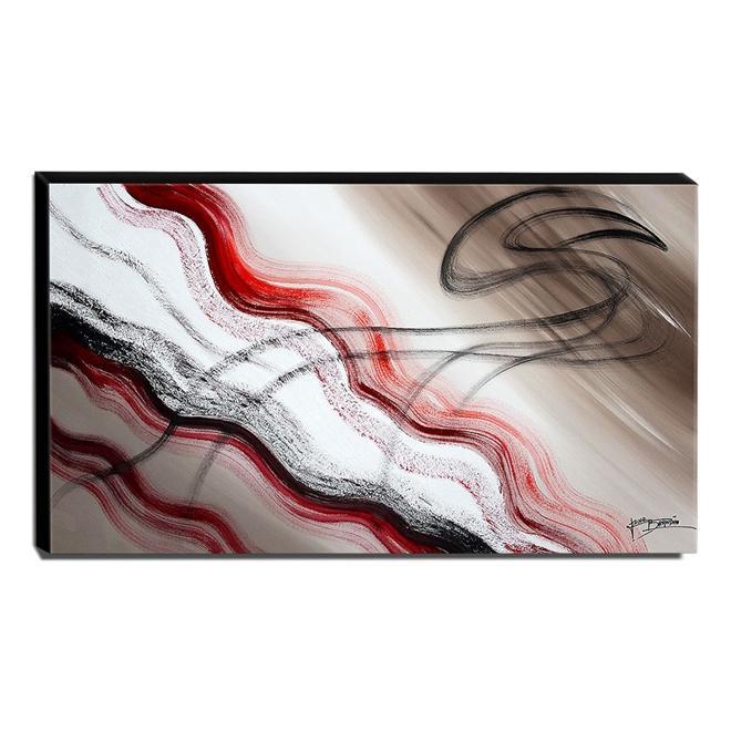 Quadro de Pintura Abstrato 70x120cm-1680