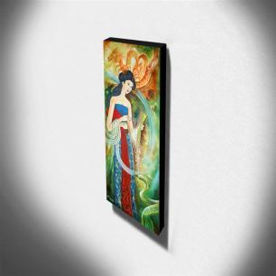 Quadro de Pintura Japonesa 100x40cm-1025