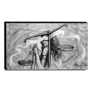 Quadro Decorativo Canvas Deusa da Justiça 70x120cm-QJ12