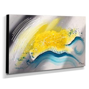 Quadro de Pintura Abstrato 60x105cm-1215