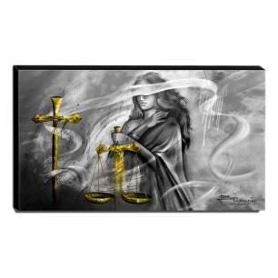 Quadro Decorativo Canvas Deusa da Justiça 60x105cm-QJ22