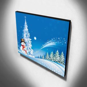 Quadro Infantil Bonecos de Neve Canvas 30x40cm-INF180