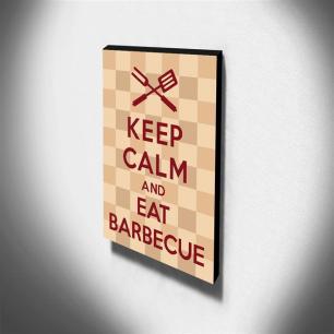 Quadro Keep Calm And Eat Barbecue Canvas 40x30cm-KCA71