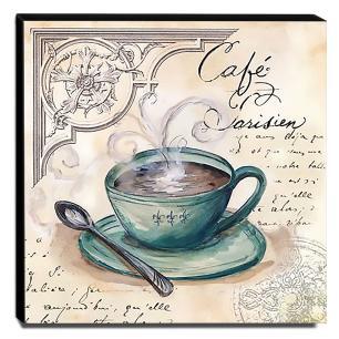 Quadro Cozinha Vintage Café De Paris Canvas 30x30cm-COZ103