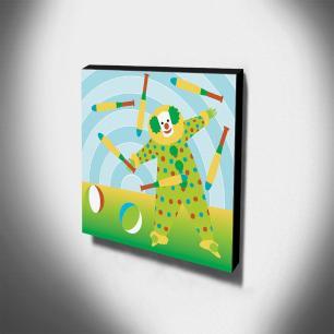 Quadro Infantil Palhaço Canvas 30x30cm-INF376