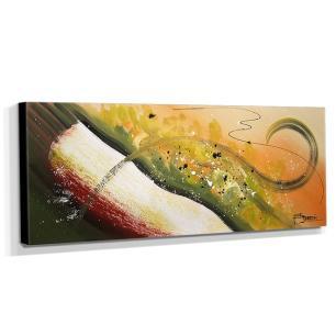 Quadro de Pintura Abstrato 40x105cm-1661
