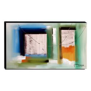 Quadro de Pintura Abstrato 60x105cm-1546