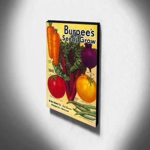Quadro Cozinha Vintage Legumes Canvas 40x30cm-COZ182