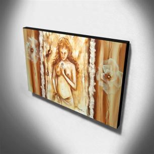 Quadro de Pintura Nu 60x105cm-1039