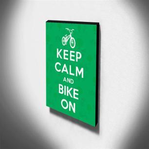 Quadro Keep Calm And Bike On Canvas 40x30cm-KCA27