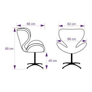Kit 2 Cadeiras Egg Colmeia Verde e Preto Poltrona Decorativa com Base Giratória