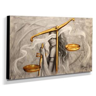 Quadro Decorativo Canvas Deusa da Justiça 60x105cm-QJ3