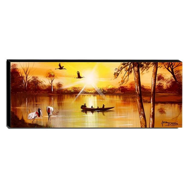 Quadro de Pintura Pantanal 40x105cm-1537