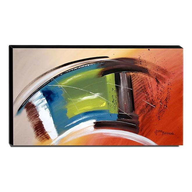 Quadro de Pintura Abstrato 70x120cm-1695