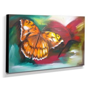 Quadro de Pintura Borboleta 70x120cm-0733