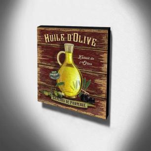 Quadro Cozinha Vintage Azeite De Oliva Canvas 30x30cm-COZ56