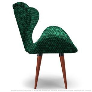 Poltrona Egg Colmeia Verde e Preto Cadeira Decorativa com Base Fixa