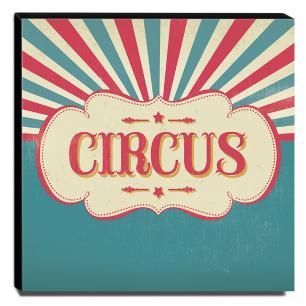 Quadro Infantil Circo Canvas 30x30cm-INF375