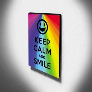 Quadro Keep Calm And Smile Canvas 40x30cm-KCA19