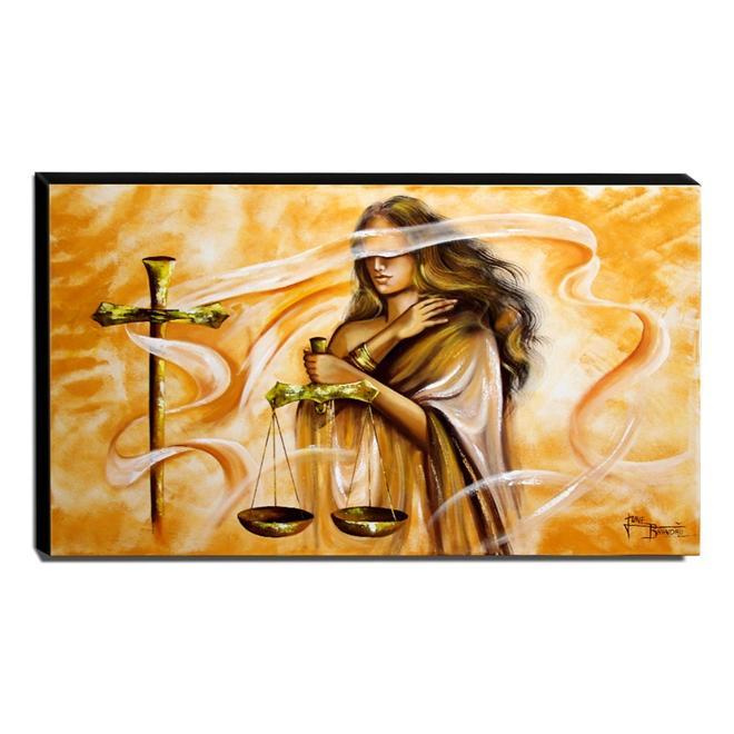 Quadro Decorativo Canvas Deusa da Justiça 60x105cm-QJ6