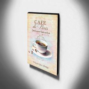 Quadro Cozinha Vintage Café de Paris Canvas 40x30cm-COZ135