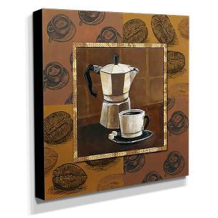 Quadro Cozinha Vintage Café Canvas 30x30cm-COZ99
