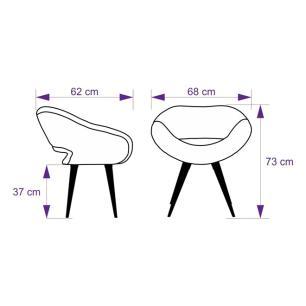 Kit 2 Cadeiras Beijo Colmeia Lilás e Rosa Poltrona Decorativa com Base Fixa