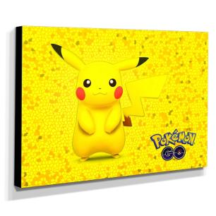 Quadro Pokémon GO Pikachu Canvas 30x40cm-INF34