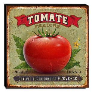 Quadro Cozinha Vintage Tomate Canvas 30x30cm-COZ46