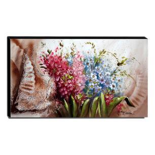 Quadro de Pintura Flores do Campo 60x105cm-1571
