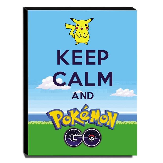 Quadro Keep Calm And Pokemon Go Canvas 40x30cm-KCA101