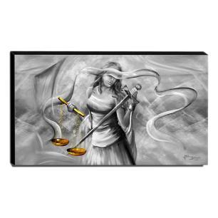 Quadro Decorativo Canvas Deusa da Justiça 60x105cm-QJ5