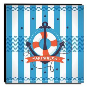 Quadro Infantil Marinheiro Canvas 30x30cm-INF381