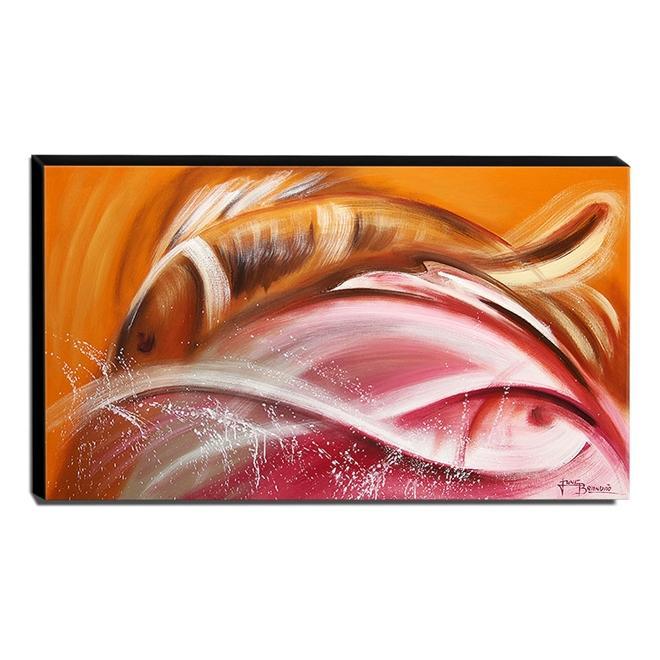 Quadro de Pintura Abstrato 70x120cm-1436