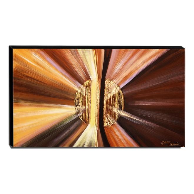 Quadro de Pintura Abstrato 70x120cm-1521