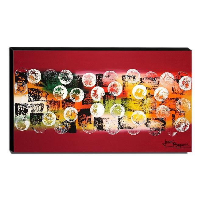 Quadro de Pintura Abstrato 60x105cm-1356