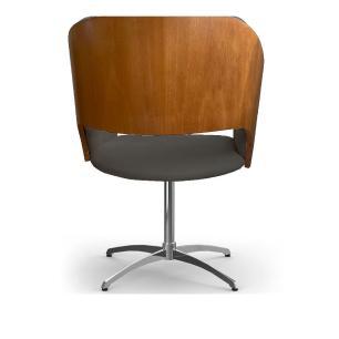 Cadeira Decorativa Bia Com Capitonê Cinza Giratória