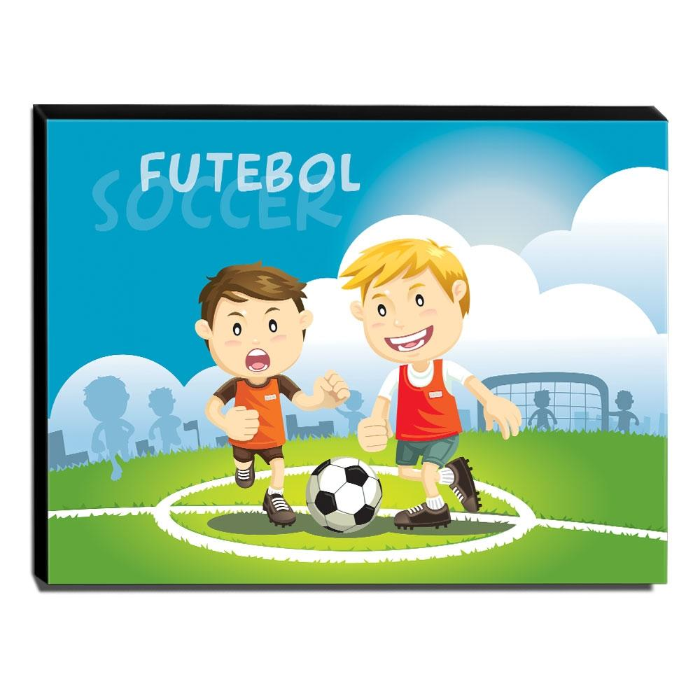 Quadro Infantil Futebol Canvas 30x40cm-INF87