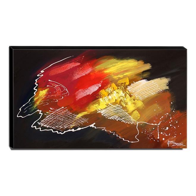 Quadro de Pintura Abstrato 60x105cm-1545
