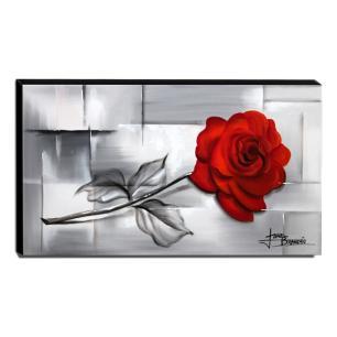 Quadro Decorativo Canvas Rosa 60x105cm