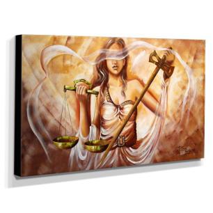 Quadro de Pintura Deusa da Justiça 70x120cm-1317