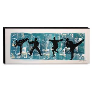 Quadro de Pintura Judô 40x105cm-1413