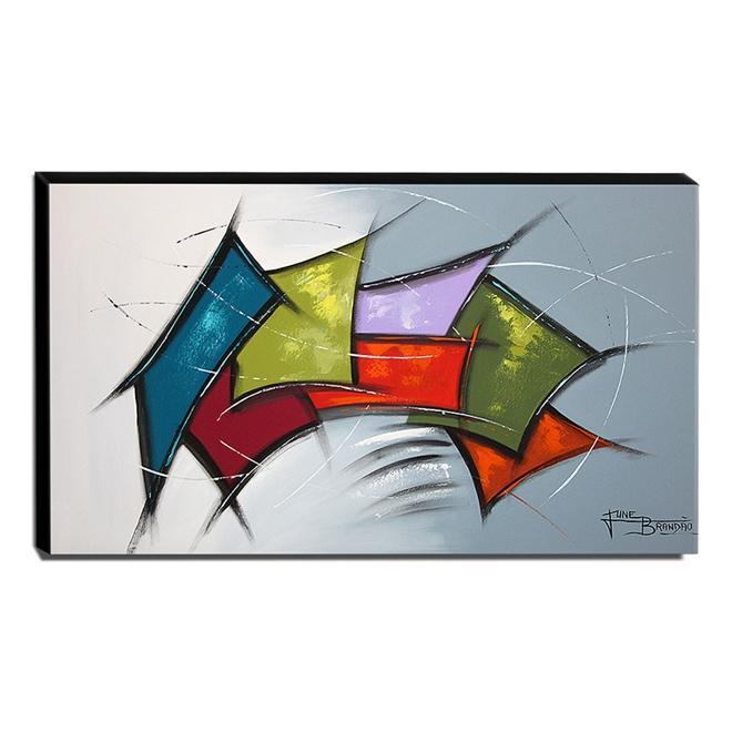 Quadro de Pintura Abstrato 70x120cm-1376