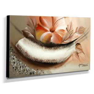Quadro de Pintura Hibisco 70x120cm-1484