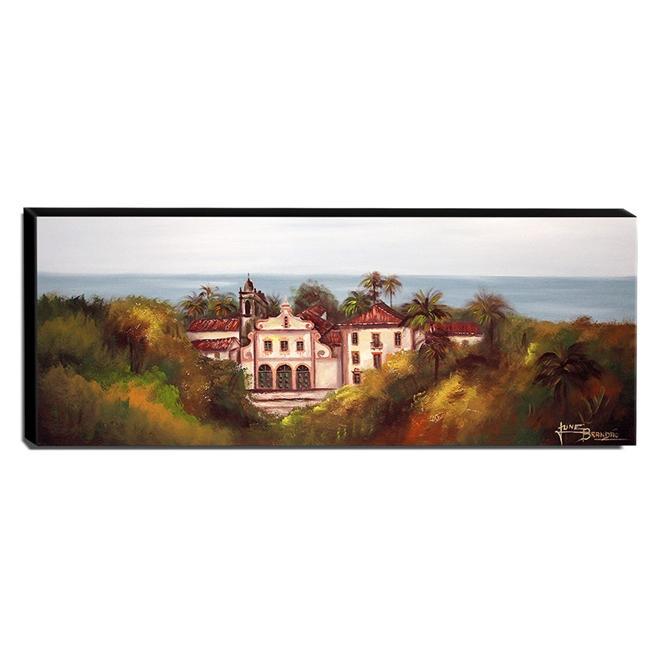 Quadro de Pintura Olinda 40x105cm-1615