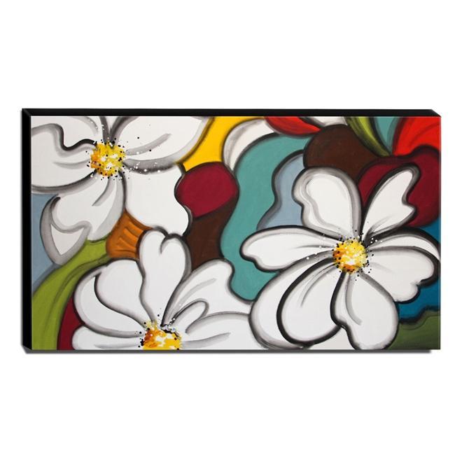 Quadro Decorativo Canvas Floral 60x105cm-QF24